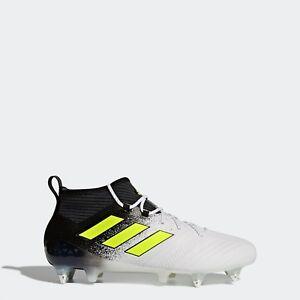 ADIDAS-ACE-17-1-SG-Primeknit-Chaussette-Football-Bottes-Blanc-Homme-S77049-RRP-220