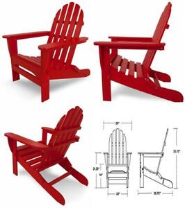 Miraculous Details About Polywood Ad5030Sr Classic Folding Adirondack Chair 38 5H Sunset Red Squirreltailoven Fun Painted Chair Ideas Images Squirreltailovenorg