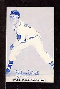 1980 Exhibit Reprint Johnny Antonelli BRAVES 3-3/8 x 5-3/8 BLUE PHOTO CARD #2