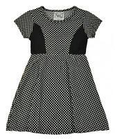 Sweet Vintage Girls Black & White Dot Dress Dress Size 4 5 6 6x