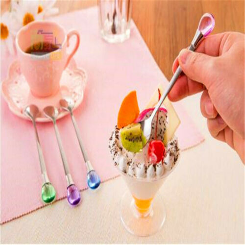 Coffee Spoons Eating Mixing Stirring Cooking Long Handle Soup Spoon Tableware D