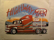 "Highway Man Red Semi Truck 14"" X 12"" T Shirt Iron On Heat Thermal Transfer"
