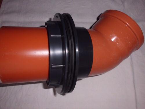 2 x Klebemuffe Durchführung mit Gewinde 110mm