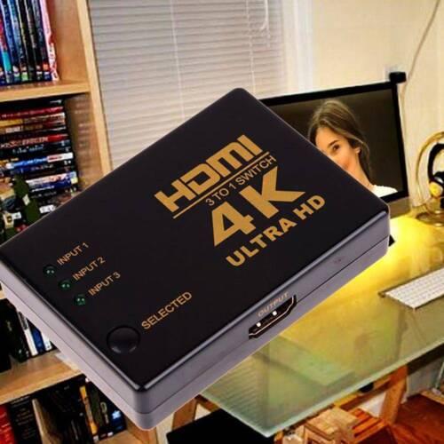 2K HDMI 3in Schalter Splitter TV Switcher Box Ultra HD für HDTV PC 1080P 4K