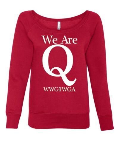 Wwg1wga Are Sweatshirt One Go Qanon Where All Women's We Trump Q HEq1dfww