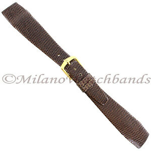 18mm-Hirsch-Brown-Genuine-Lizard-Unstitched-Open-Ended-Tapered-Mens-Band-SHORT