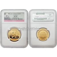 China 2011 Panda 200 Yuan 1/2 oz Gold Coin NGC MS 69