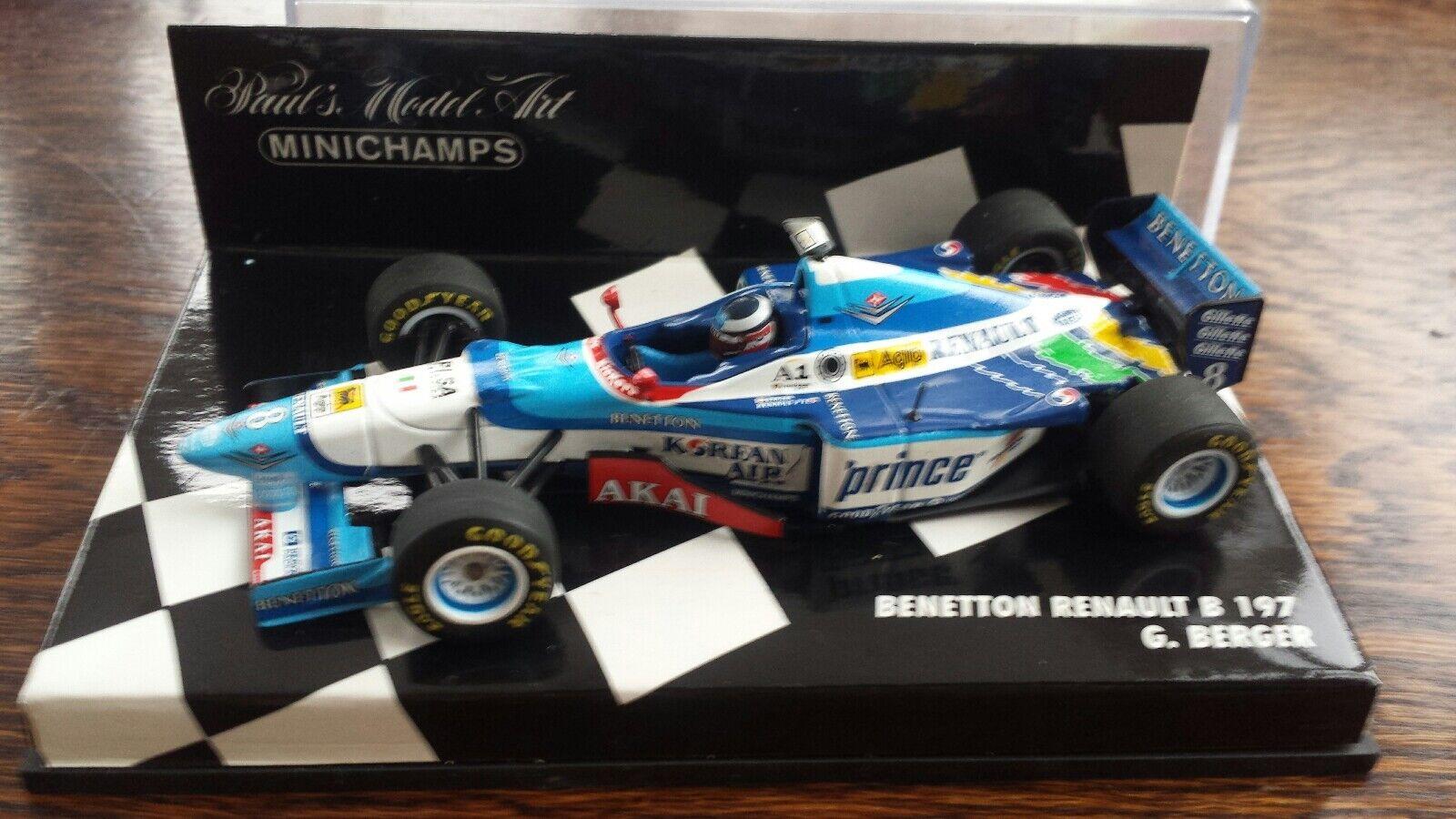 1 43 Benetton Renault B197 1997 Gerhard Berger Prince decals