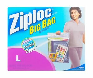 Image Is Loading 1 Bag Ziploc L 3 Gallon Plastic