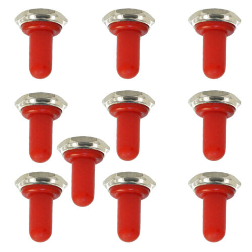 10 stk 12mm Gummi Kippschalter Schutzkappe Wasserdichte Stiefel Abdeckung Rot