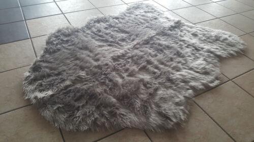 Arran 150x220 cm Kunstfell grau
