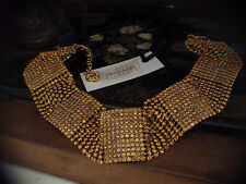 Amber Topaz Crystal Choker Necklace Made with Swarovski Elements