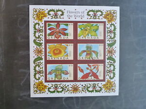 1998-GRENADA-FLOWERS-OF-THE-WORLD-ORCHID-6-STAMP-MINI-SHEET-MNH-2