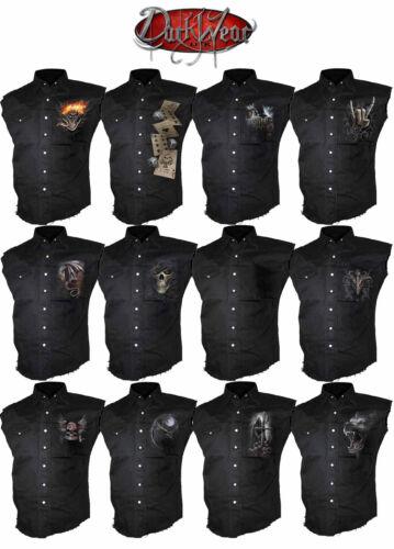 Spiral Direct Work Shirt,Biker//Skull//Rock//heavy Metal//Rock//Plain//Dragon//Wolf//Top