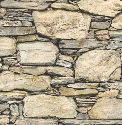 Tapete Steinoptik Natur Steintapete Reclaimed FD 22317 Bruchstein 6,85 €//qm