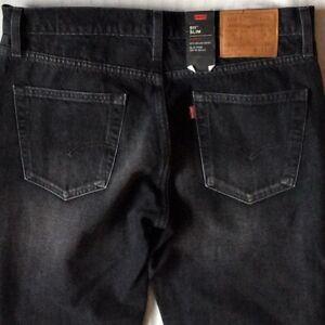 Hommes noirs Denim ~ Patchs Premium Slim Nwt Stretch 511 Levi's ~ Grey 33x34 192379916133 2955 AqgAxwFd