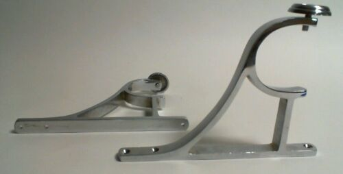 2x Regency Chrome Silver Curtain Pole End Bracket 58mm #19D420