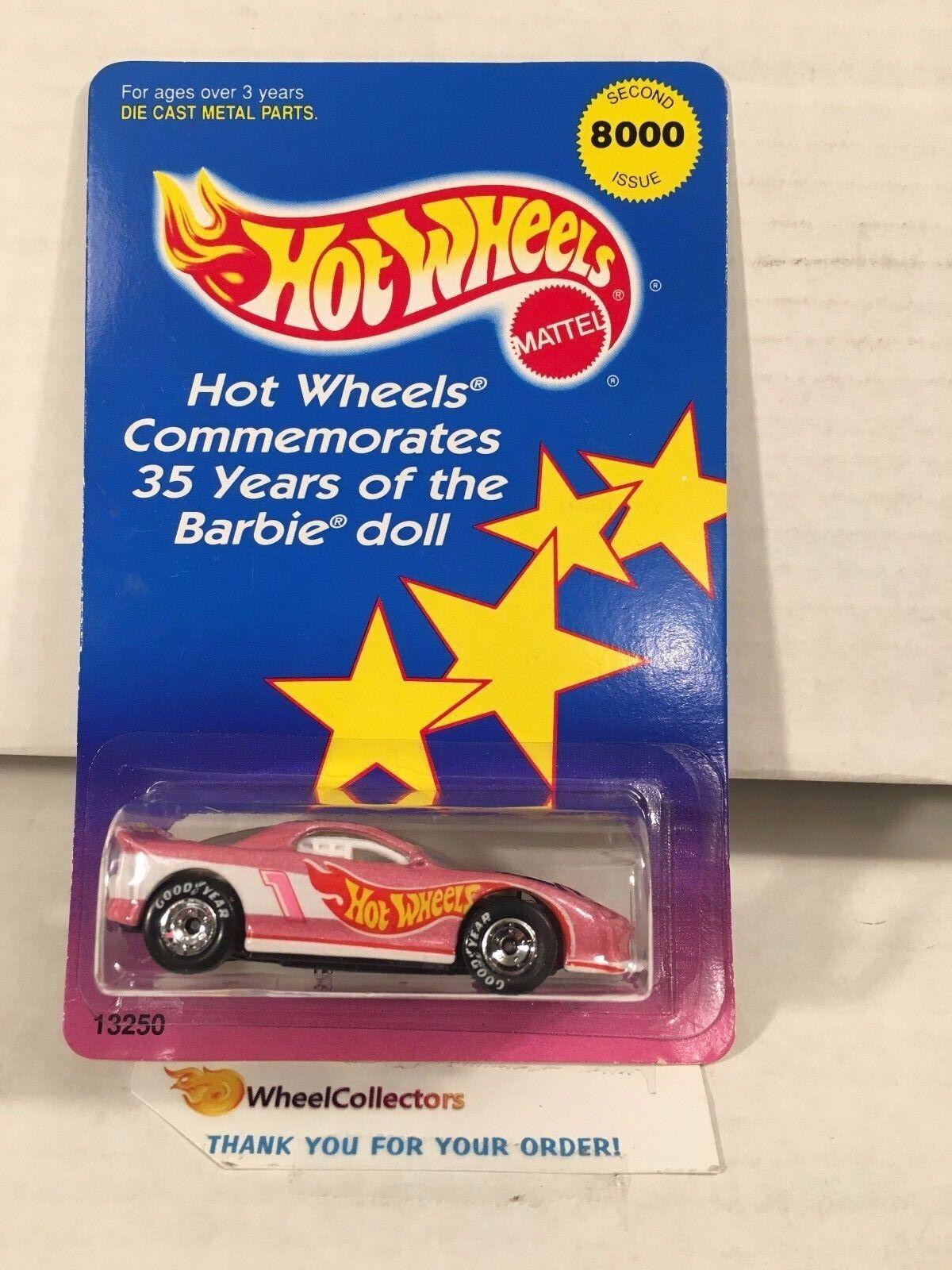 2 35th Aniversario De Barbie '93 Camaro con Real Riders  Hot Wheels  HA36