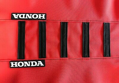 """New Black /& Red Ribbed /""""HONDA/"""" Seat cover CR125 CR250 2000-2008"""
