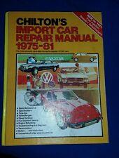 Chilton's Import Car Repair Manual 1975-1981 6th ed. Toyota Honda Saab BMW Audi