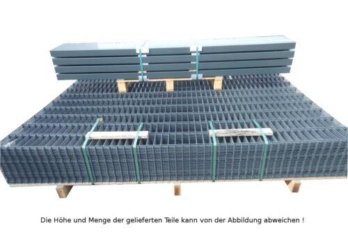 Doppelstab mattenzaun Complet-Set//anthracite//Hauteur 143 CM//15 m de long