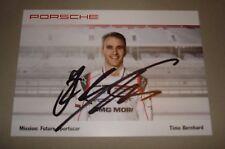 Le Mans 2016-FIA WEC-du Mans 2016 Porsche 919 #1 Timo Bernhard tarjeta firmada