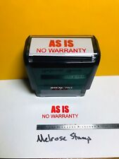 As Is No Warranty Rubber Stamp Red Ink Ideal 4913