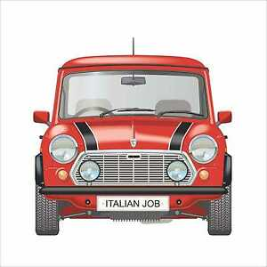 Classic Mini Italian Job Limited Edition Red Printed Cushion Ebay