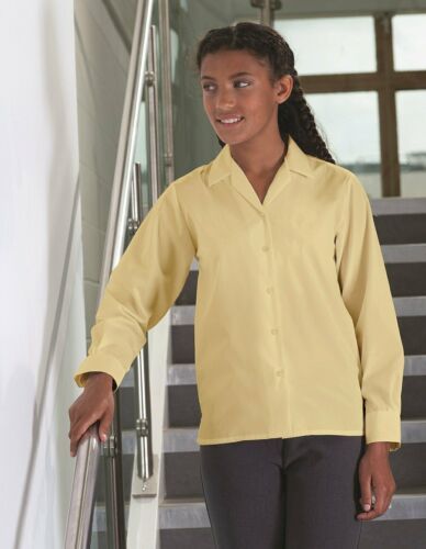 Blue Max Banner School Uniform Junior Twin Pack Revere Long Sleeve Blouse 913353