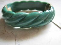 With Tags Monet Green Acrylic Cuff Bangle Bracelet