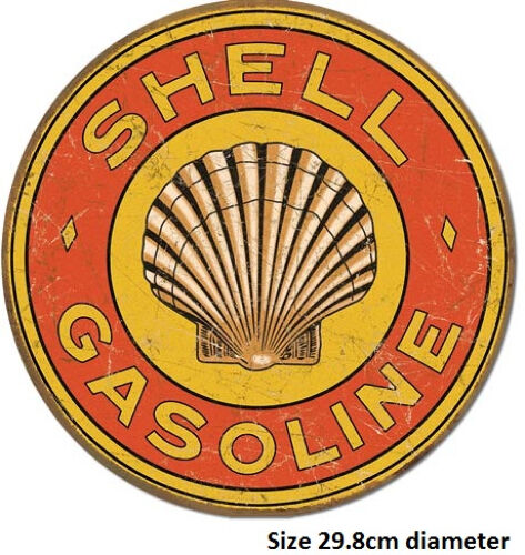 Shell Gasoline 1920's Tin Sign 1964  Made in USA