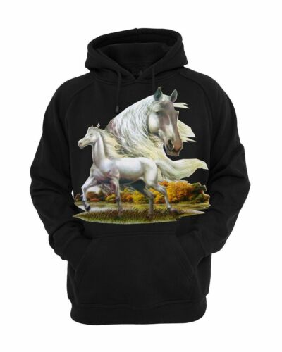 Women/'s I Love My Horse Cowgirl Cute Horse Lover All American Girl Black Hoodie