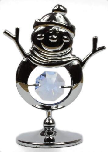 Schneemann Winter Weihnachtsdekoration Tischdeko Figur mit Swarovski Kristalle