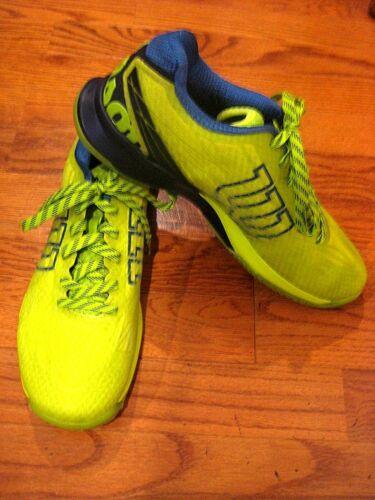 US Size 8 Details about  /Wilson Mens KAOS Tennis Shoe Lime//Navy//Blue  WRS322400