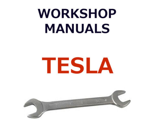 TESLA workshop manual free postage !!
