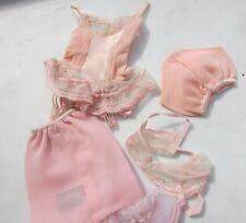 Vintage Barbie Doll Under Fashions #1655 Pink Lingerie Set Rare 1966 Really Nice
