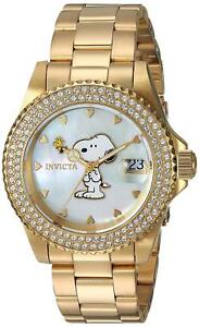Invicta-24809-Character-Collection-Women-039-s-40mm-Gold-Tone-Steel-Watch