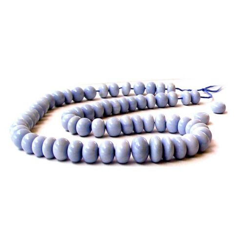 6 Rare OWYHEE BLUE OPAL Oregon beads ~7-8mm rondelles stone *MERZIEs USA Ship*