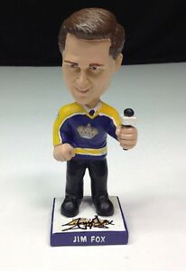 Jim Fox Signed LA Kings Legends Night Hockey Bobble Bobblehead PSA Y35105