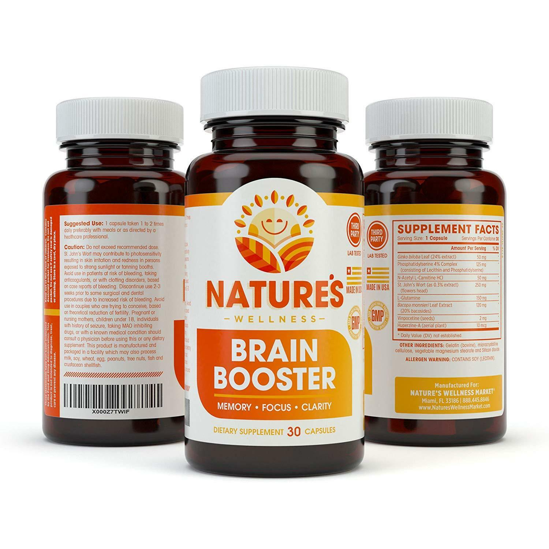 BRAIN BOOSTER - Increase Focus, Memory & Clarity - Nootropic Supplement