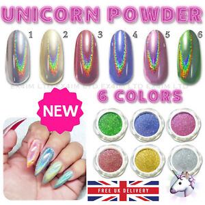 Image Is Loading New 6 Colors Rainbow UNICORN Holographic Mirror Effect
