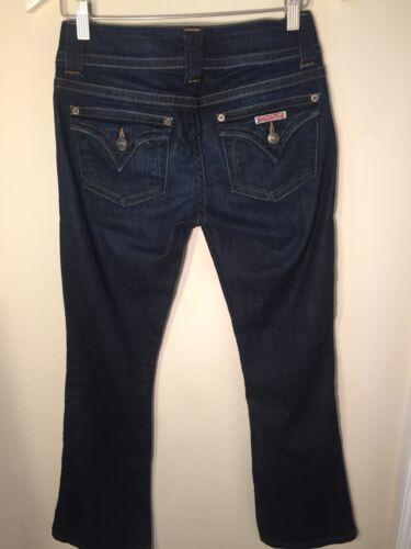 Dark 27 Jeans tasche patta Firefly Womens Bootcut Hudson Signature con Wash SIHA1
