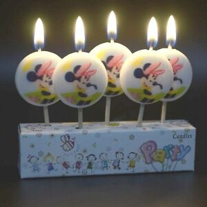 Image Is Loading MINNIE MOUSE Novelty Birthday Cake Candle Candles Topper