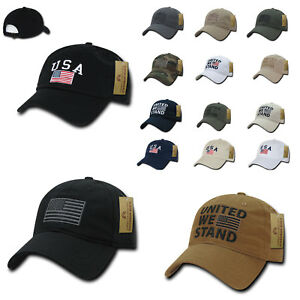 Rapid Dominance Patriotic USA American Flag Baseball Cotton Dad Caps Hats