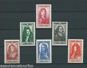 CELEBRITES-1944-YT-612-a-617-TIMBRES-NEUFS-MNH-LUXE