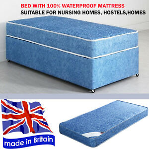 24069fd2be48 Image is loading 3FT-NAUTILUS-ORTHOPEDIC-WATERPROOF-DIVAN-BED-WITH-MATTRESS