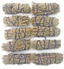 "Sage Smudge Stick 4"" x 10 (TEN) Smudging Pagan Wicca Cleansing Sage Spirit"