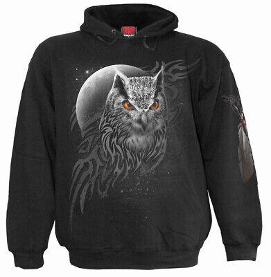 Night Owl Full Moon Bird Of Prey Hooded Sweatshirt Hoodie
