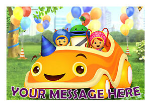 Image Is Loading TEAM UMIZOOMI BIRTHDAY PERSONALISED CAKE TOPPER A4 EDIBLE