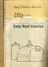 FERNE CARTER CHAPMAN = 2 Cookbooks EASY BEEF + EASY CHICKEN RECIPES Medina ND